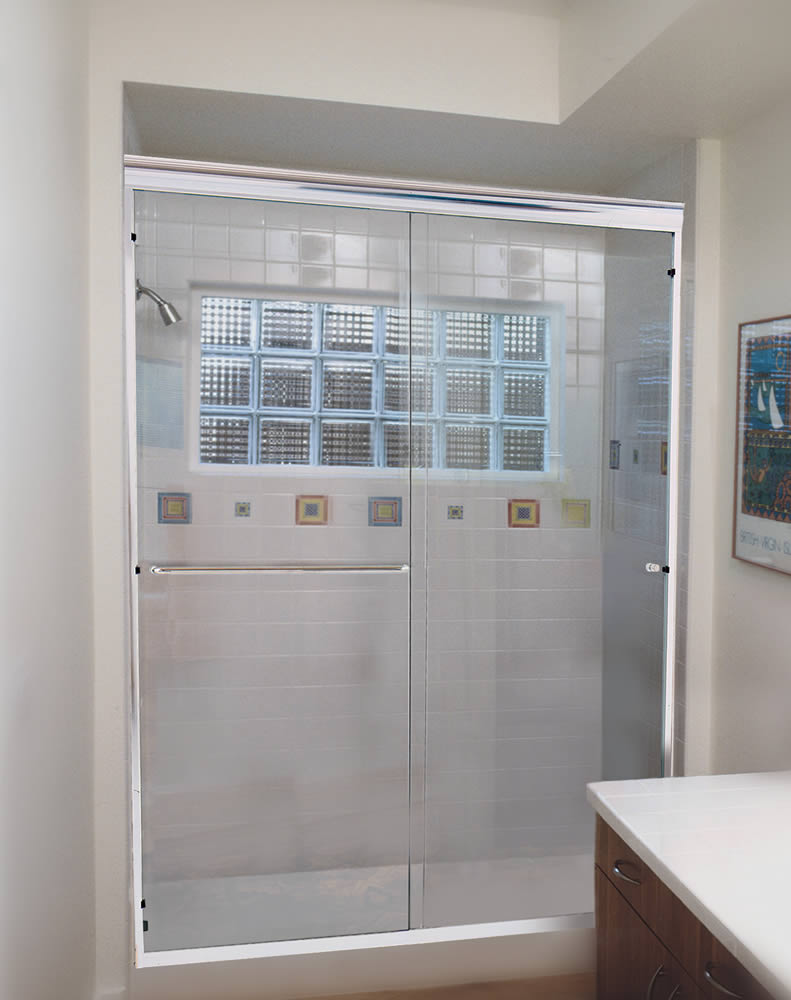 Semi Frameless Shower Enclosures atlanta semi-frameless shower doors - patial framed - superior