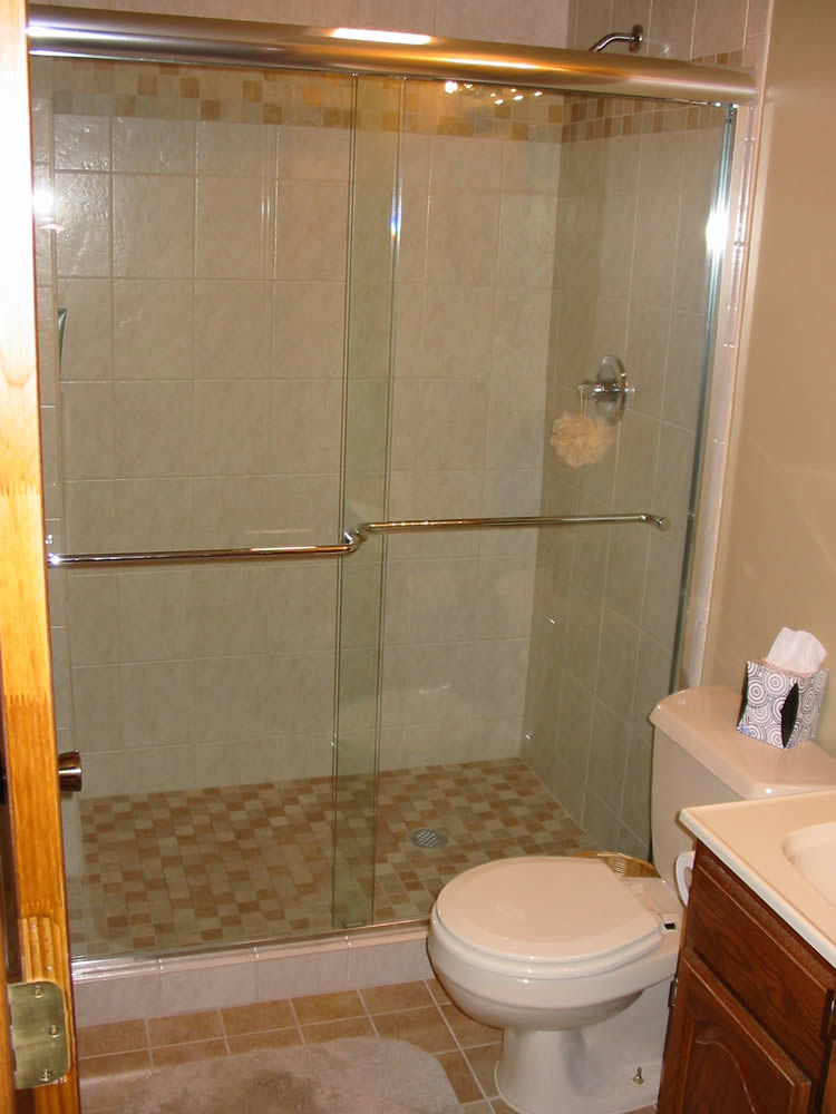 Atlanta semi frameless shower doors patial framed for Bathroom door ideas