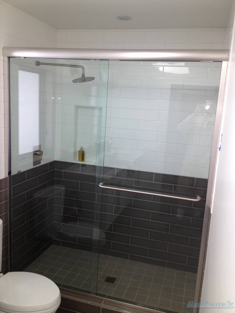 Framed Sliding Shower Doors atlanta semi-frameless shower doors - patial framed - superior