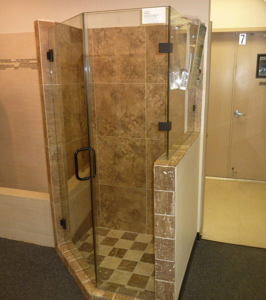 Atlanta frameless glass shower doors superior shower for Solid glass shower doors
