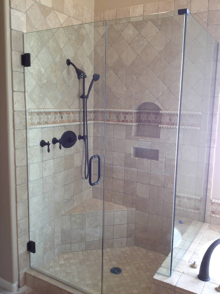 Perfect 013   Frameless Shower Door   Woodstock, GA Design