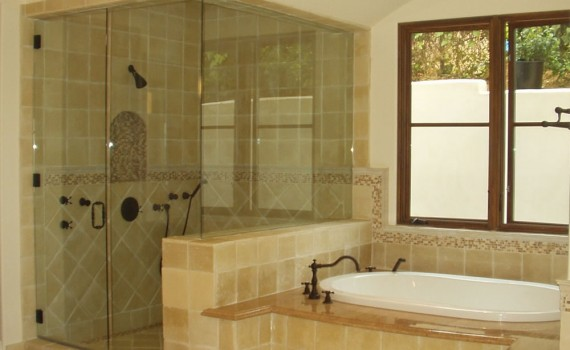 Georgia Frameless glass shower doors