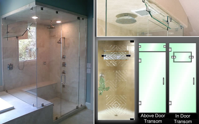Shower Door Operable Transoms