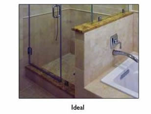 Roswell tile shower pan design