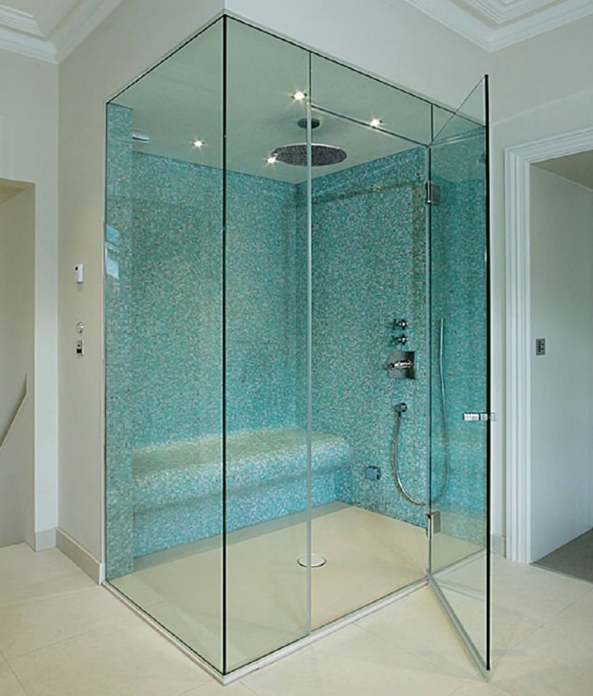 the doors bathroom triangle raleigh frameless shower for semi swing nc residential glass