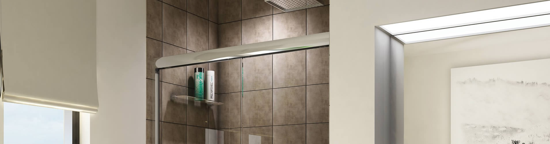 Semi-Framed Glass Shower Doors - Atlanta, Georgia